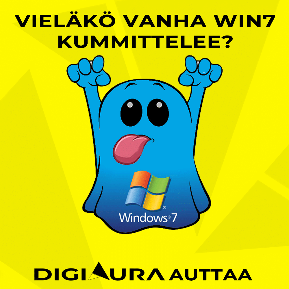 Wanha Windows7 kummittelee